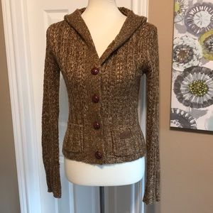 Roxy sz medium Cable Knit Cardigan Sweater ⭐️